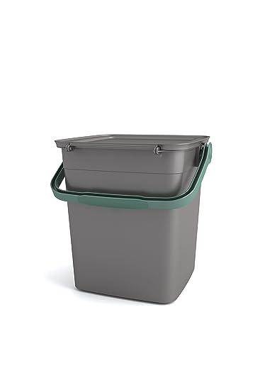 KIS 80910000850 Küchen-Kompost-Abfalleimer 9 Liter grau/grün ...
