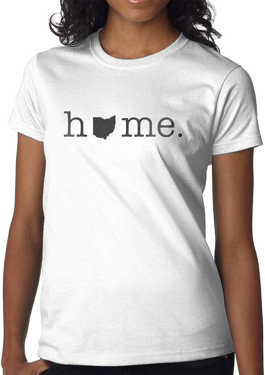 Home in Ohio State Girl's Beautiful Short-Sleeved T-Shirt Fashion T-Shirt Short T-Shirt
