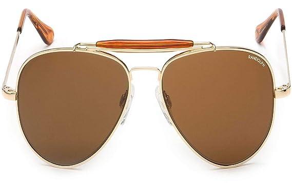 162600d93f7 Randolph Sportsman Sunglasses Gold 23K Skull Glass Tan Polarized AR 57mm