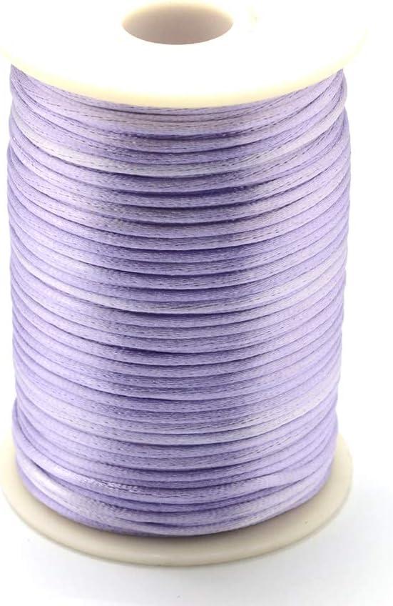 Cheriswelry - Cuerda de nailon trenzado de 2 mm para hacer pulseras de macramé, color lila