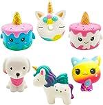 Yonishy Unicorn Squishies Toy Set - Jumbo Narwhale Cake,Unicorn Cake,Unicorn Donut,Dog,Unicorn