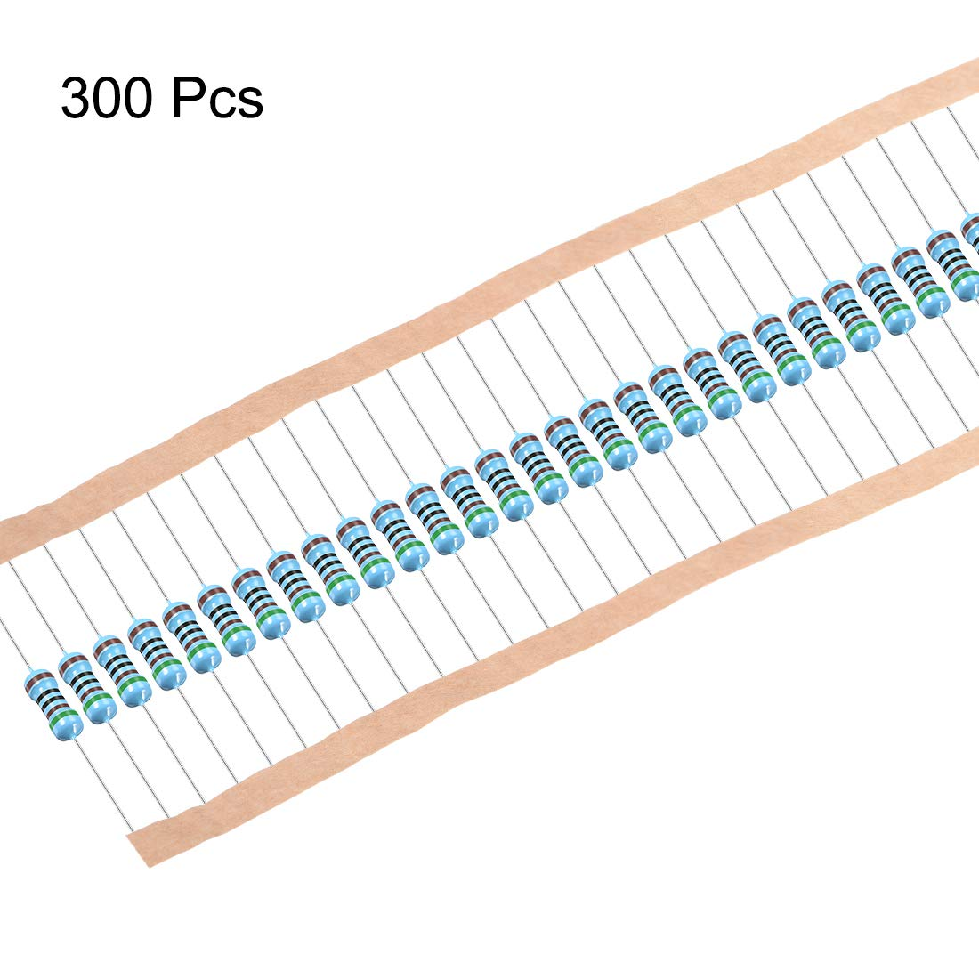 uxcell 300Pcs 120 Ohm Resistor Axial Lead 1//4W 1/% Tolerance Metal Film Resistors 5 Bands for DIY Electronic Projects and Experiments