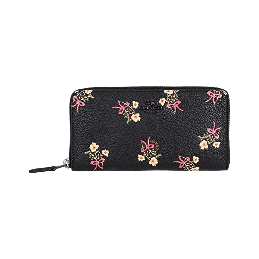 f5f6ff13334 Image Unavailable. Image not available for. Color: Coach Accordion Ladies  Large Leather Wallet 28444BPBLK