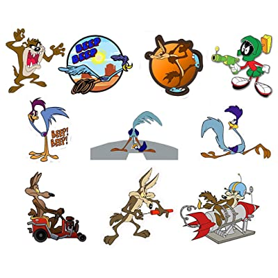 GTOTd Stickers for Road Runner Wile E. Coyote Dynamite Jeep 4x4''. Sticker Bumper Stickers Vinyl Decal Sticker Pack (10 Pcs): Arts, Crafts & Sewing