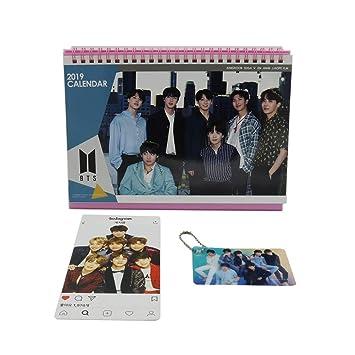 Bts Bangtan Boys Desk Calendar With Mini Photo Cards With Key Ring, Instagram Photo Card by Bts Calendar