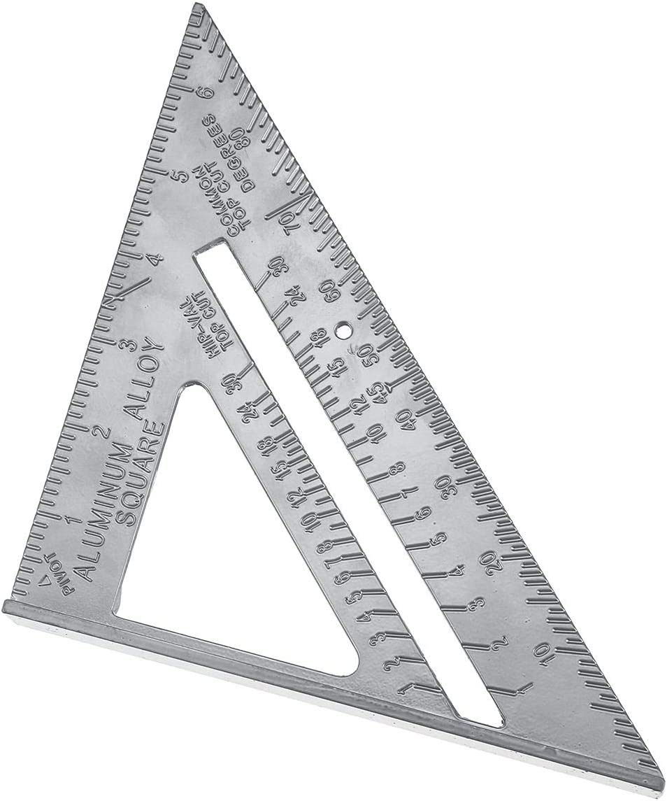 Measuring Tools 2pcs 7 Inch Aluminum Alloy Metric Triangle Angle Ruler Woodworking Square Layout Tool Engineer