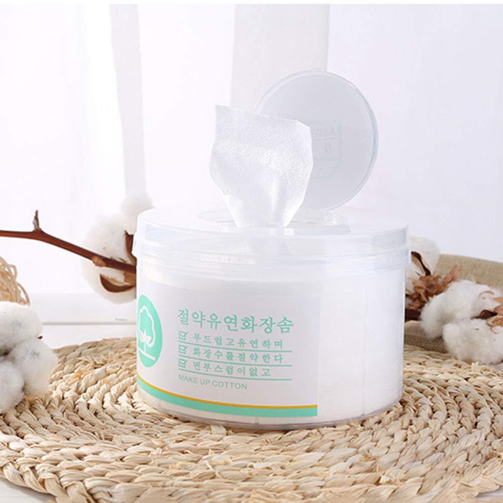 Lurrose Toallitas de Papel de Algodón Desechables para Desmaquillantes Removedor de Maquillaje y Limpiar de Facial Uñas y Pies 600pcs: Amazon.es: Belleza