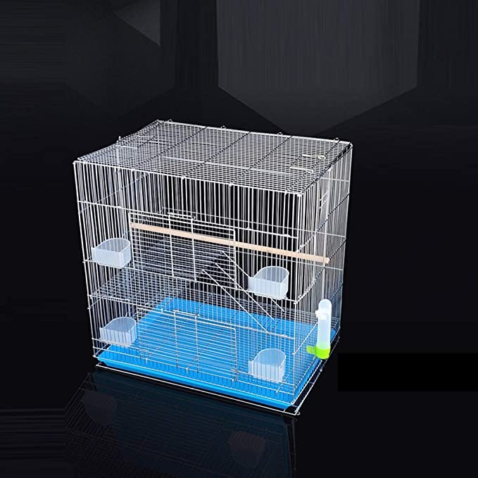 Home Decoration - Jaula para pájaros, jaula azul de cría de alambre, parque exterior inseparable (color: A, tamaño: 60 x 40 x 50 cm)