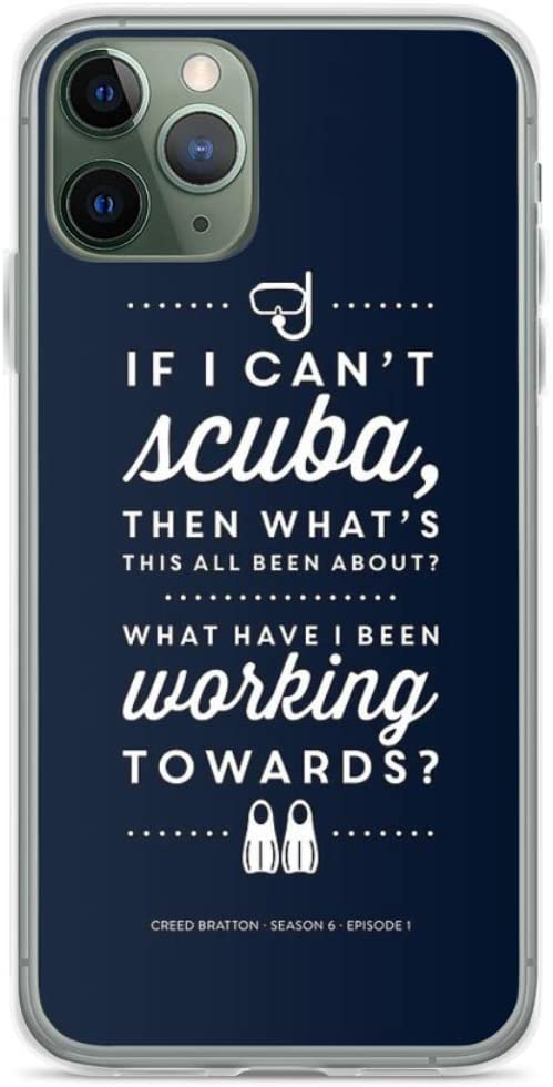 Phone Case The Office - Creed Bratton If I Cant Scuba Compatible with iPhone 6 6s 7 8 X XS XR 11 Pro Max SE 2020 Samsung Galaxy Bumper Charm Scratch