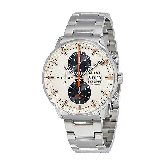 MIDO color beige Dial Acero inoxidable reloj de Hombre Automático m0164151126100: Amazon.es: Relojes
