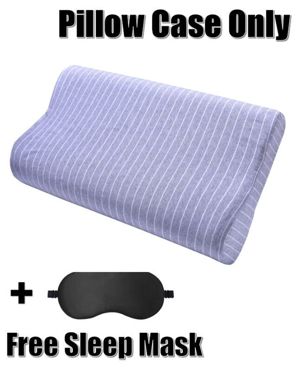 Tempur Pedic Pillow Case Pillow Protector for Memory Foam Contour Pillow Latex Pillow Cervical Pillow,Soft Cotton Fully Hidden Zippered Protection