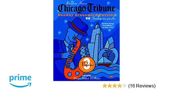 picture about Printable Chicago Tribune Crossword named Chicago Tribune Sunday Crosswords, Quantity 3 (The Chicago