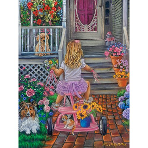 Bits and Pieces - 500 Piece Jigsaw Puzzle for Adults - Summers Bouquet - 500 pc Spring Scene Jigsaw by Artist Tricia Reilly-Matthews