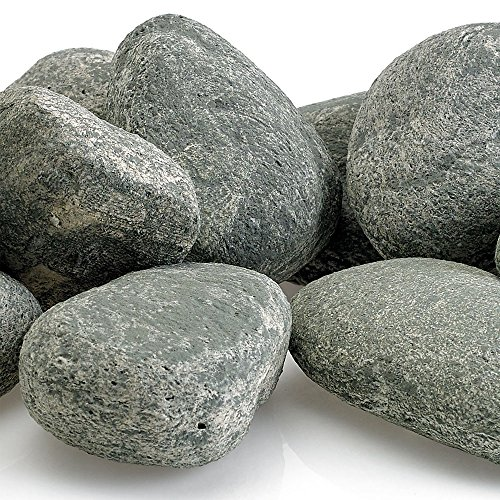 Rocks | Decorative Stones for Outdoor Gas Fire Features or Indoor Gas Log Fireplaces | 15-Stone Kit (Dusty Gray) (Gas Log Decorative Accessories)