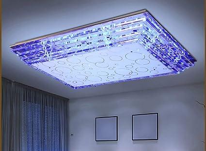 Plafoniere Rettangolari Cristallo : Czz lampada soggiorno moderno e minimalista moda di
