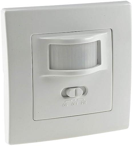 Bewegungsmelder Einbau 160° Unterputz Sensor LED geeignet 9m Reichweite 2-Draht IP20 ersetzt einen Schalter