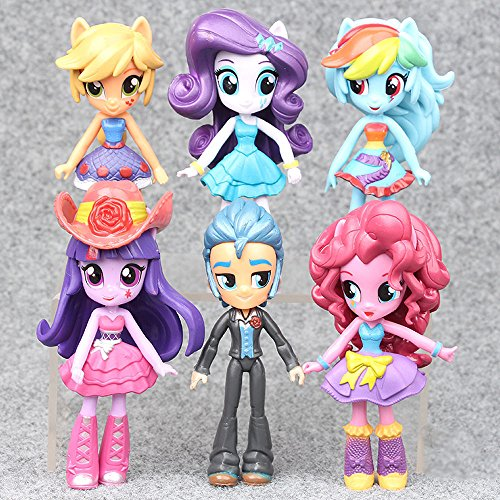 My Little Pony Equestria Girls Action Figures PVC Dolls Monster High Toys 6 PCS - Monster High Doll Names