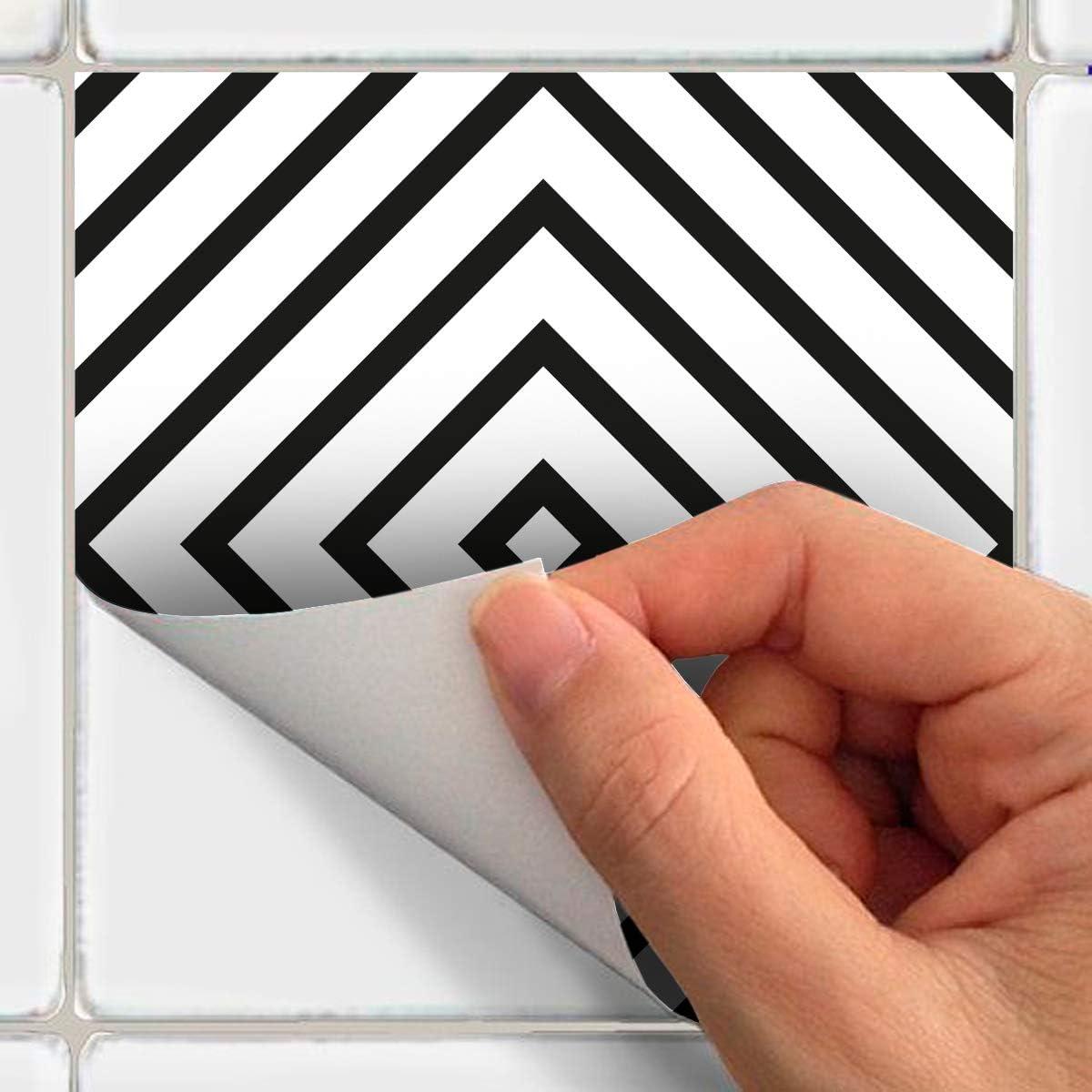 10 x 10 cm Ambiance-Live col-tiles-ROS-A977/_10x10cm Stickers carrelages Groenland Vinyle adh/ésif