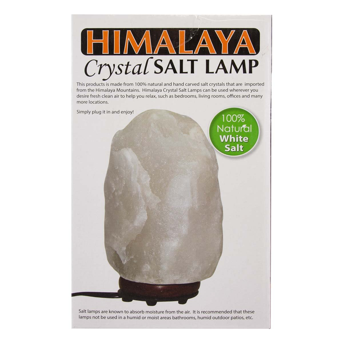 """Simply Genius Himalayan White Salt Lamp Lights, Electric 6"""" Natural Crystal Salt Lamp Rock With Bulb & Cord, Air Purifier Night Light For Bedrooms, With Dimmer Switch Salt Lamp, (5.5-8 Pounds) by Simply Genius (Image #5)"""