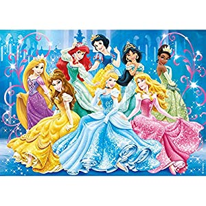 5D Diamond Painting Paint by Numbers Kits for Adult and Kids,Disney Princess Round Full Drill Crystal Rhinestone Embroidery Cross Stitch Arts Craft Canvas Supply DIY Gift for Home Wall Decor(16″X12″)