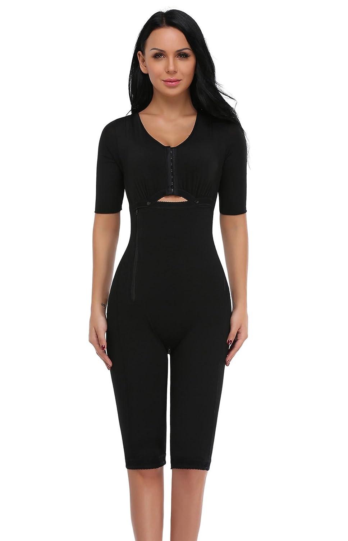 SLIMBELLE Women Seamless Body Shaper Briefer Fajas Tummy Control Black Bodysuits Slimmer Compression Garments