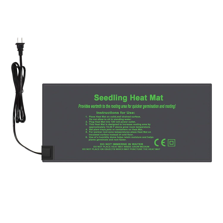 "KORAM Seedling Heat Mat Durable Waterproof Hydroponic Heating Pad Warm Germination Station Heat Mat for Indoor Home Gardening Seed Starter (10""x20"")"