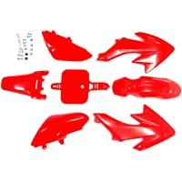 hongyu CRF50 Black Plastic Body Fender Kit for Chinese CRF XR 50cc Pit Dirt Bikes Including All Mounting Screw