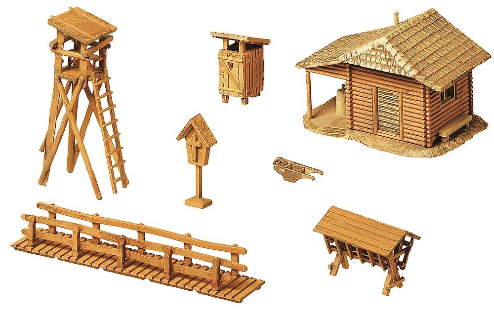 Faller 272532 Lodge with Raised Hide N Scale Scenery and Accessories