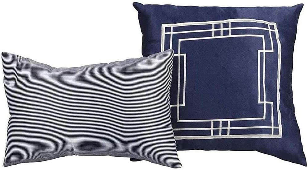 Lionel Richie Home Lifestyle Decorative Pillows, Navy - 2 Pack 100% Polyester, Soft, Decorative Cushion for Home, Sofa, Bed, Modern Quality Design Premium Quality