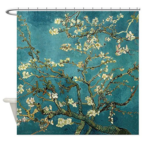 CafePress Blossoming Almond Tree, Vincent Van Gogh. Shower C Decorative Fabric Shower Curtain ()