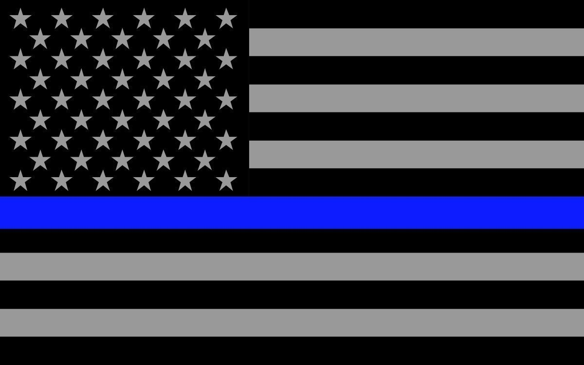 Amazon com thin blue line subdued us flag sticker decal 2 pack police law enforcement thin blue line decal sticker 5x 3 2 pack everything else