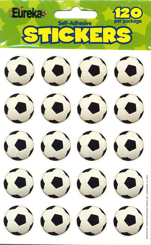 Eureka Photo Soccer Stickers