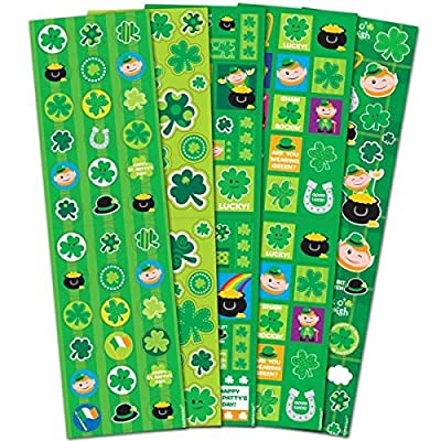 Amscan St. Patrick's Day Printed Paper Stickers, 350 Ct.   Party Favors: Kitchen & Dining