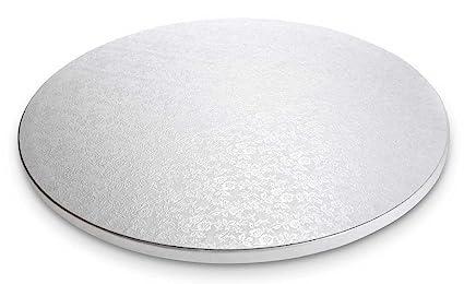 Städter 900028, Cake Board, bandeja redonda para tartas, Plástico, Blanco, 30