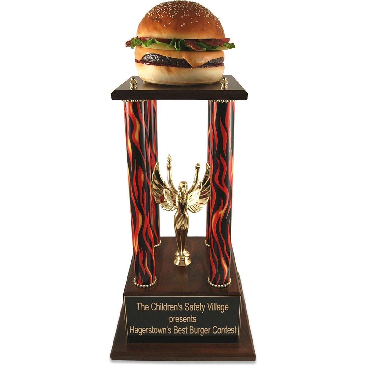 ジャンボバーガーTrophy – CookオフTrophy、Food Eating Contest、ベストBurger、Culinary賞、ハンバーガーTrophy by Far Out Awards B07BX2YDFK