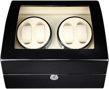 Audivik 4+6 Caja Giratoria Reloj Automatico Bateria,Automatic Watch Winder 4 Relojes Pilas de Madera Caja de Reloj Caja Giratoria Cajas de Relojes Cajas Giratorias Negro: Amazon.es: Deportes y aire libre