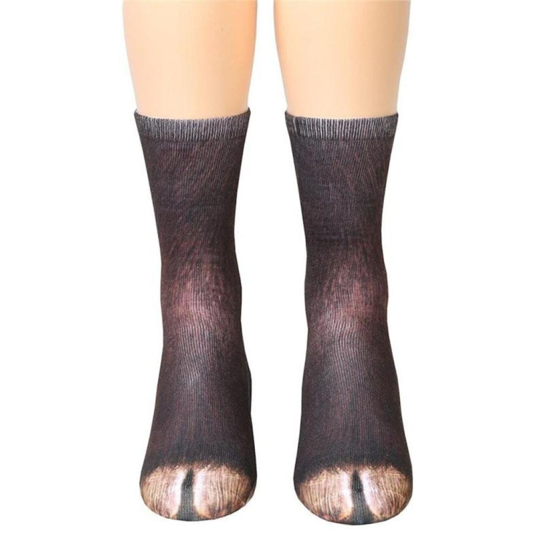 bdc21fcbe Animal Feet Socks 3D