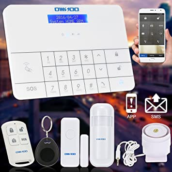 OWSOO Sistema de Alarma GSM y SMS Inalámbrico RFID Teclado Táctil Pantalla LCD Seguridad Hogar Antirrobo Ladrón Auto Sintonizador: Amazon.es: Bricolaje y ...