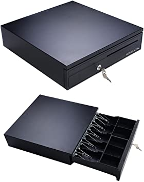 Cash Drawer For Square Box 5 Bill Tray Under Counter Epson POS Printer Capable