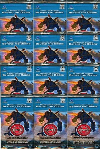 Chaotic M'arrillian Invasion BEYOND THE DOORS Trading Card Game Booster - 12 PACK LOT (9 Cards/Pack) (Pack Trading 12 Cards)