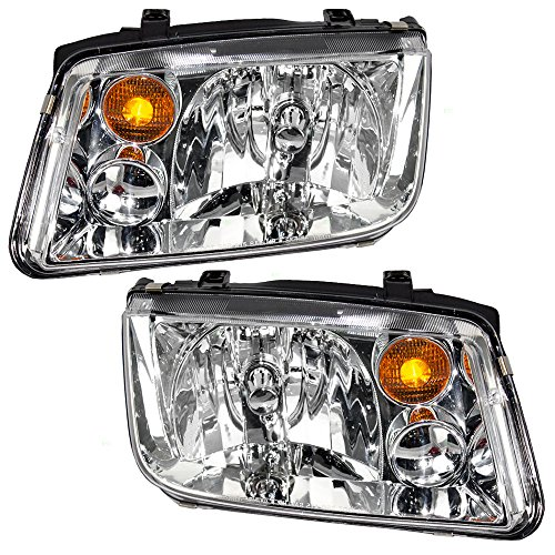 Halogen Combination Headlights Headlamp Pair Set Replacements for 02-05 Volkswagen Jetta VW Generation 4 1J5941017BJ VW2503125