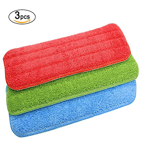 3 Pack Mop Refill Mop Replacement Cleaning Pads, URAQT Microfibre Spray Reveal Mop Refill Cloth Mat Duster, Wet/Dry for Home and Office -  URJSQ2008