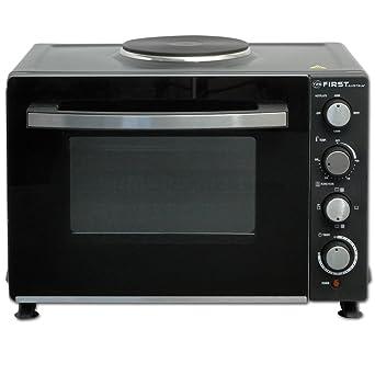 2700 Watt Backofen mit Kochplatte Umluft 30 Liter Mini ... | {Miniküche mit backofen und herdplatten 1}