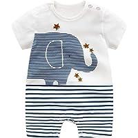 Pelele de algodón orgánico para bebé de AllaIBB, para niños y niñas, como polo o pantalón corto o pelele de verano (0-24…