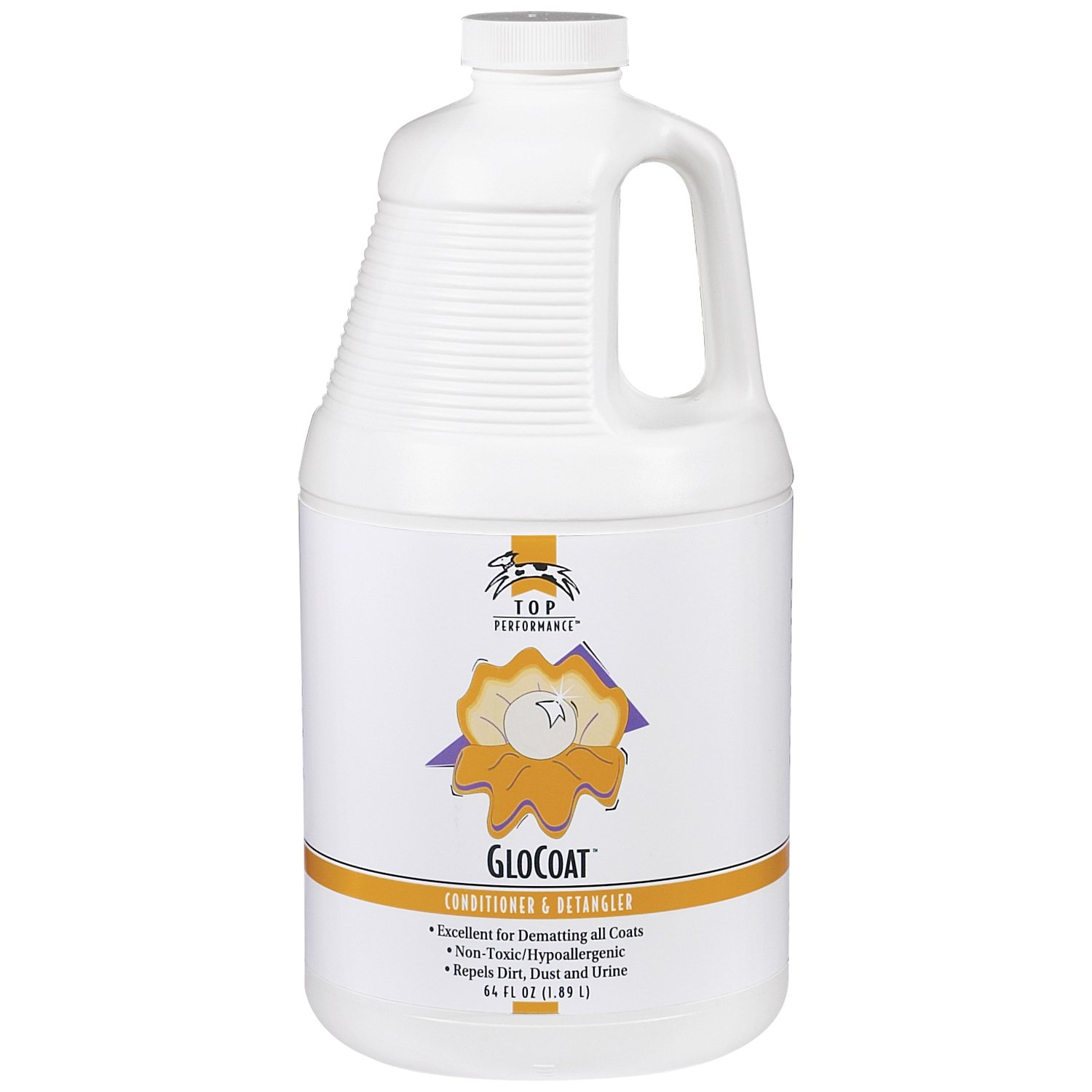 Top Performance GloCoat Pet Conditioner and Detangler, 64-Ounce