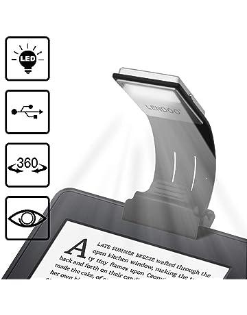 Lámpara de Lectura, Luces de lectura, LENDOO Flexo LED de Pinza con Carga USB