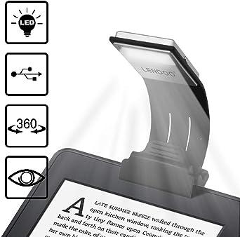 Lámpara de Lectura, Luces de lectura, LENDOO Flexo LED de Pinza ...