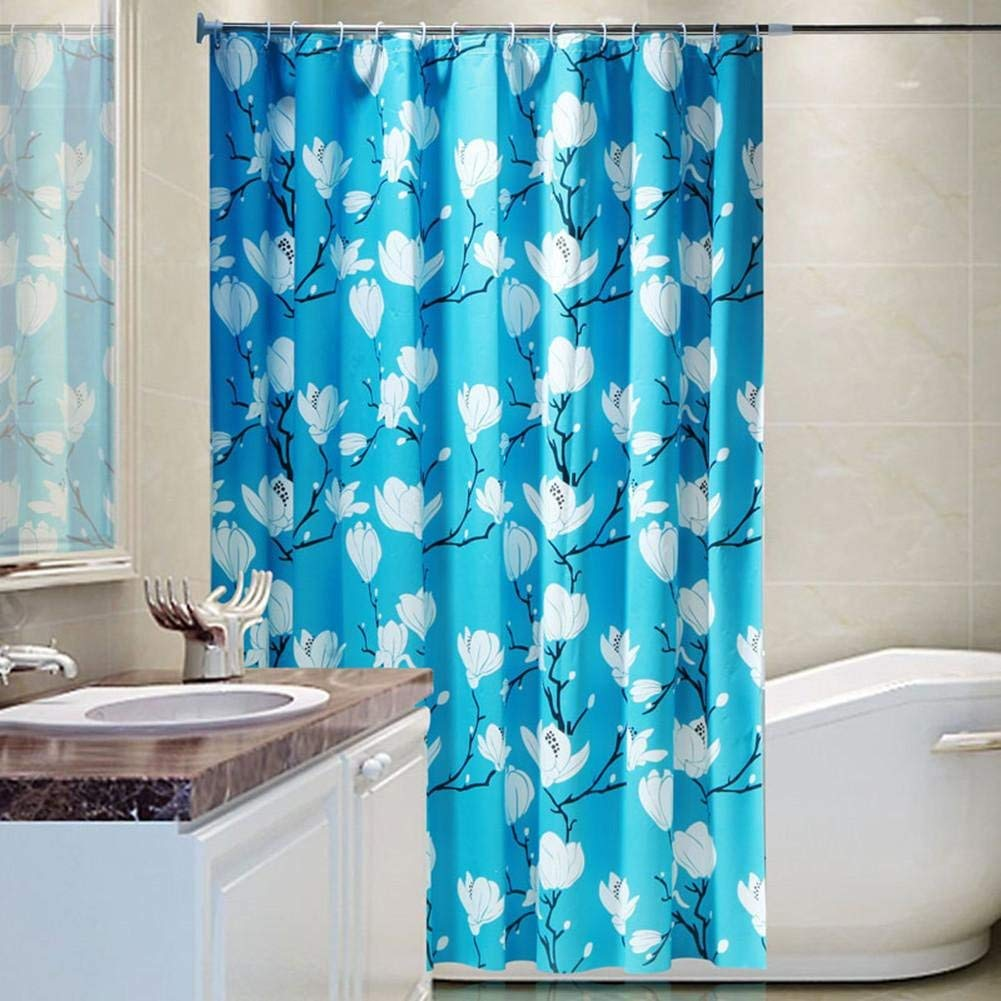 GouuoHi Home Shower Curtain 1pcs Shower Curtain Curtains PEVA Material Mildewproof Thickened Bathroom Amenities No Deformation Does Not Fade Multi-Size Blue Opaque 150200cm (Size : 150200cm)