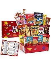 Funny Planet Premium Snacks Bred Vifte Pakke Care Package, Ultimate Assortiment af søde sager og godbidder Pack, Mix Variety Pack med snacks, Bedste Candy og slik gaveæske, Snacks gave til børn, 20 stk
