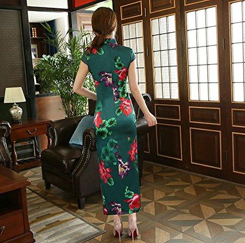 vestido largo noche Acvip tradicional mujer Cheongsam 3 de Qipao chino color SCwtq1tP